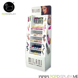 Cheaper Free Standing Temporary Advertising Board Cardboard Makeup Mac Cosmetic Display Stand Case