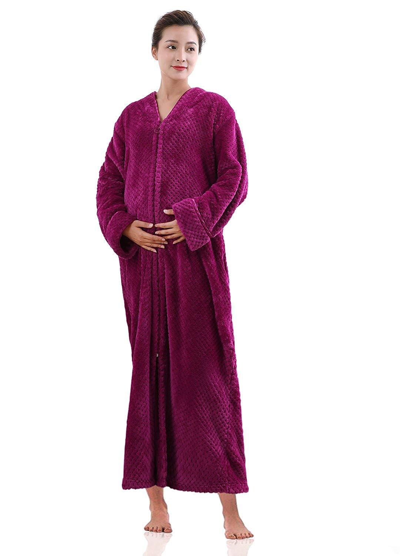 Get Quotations · VI VI Womens Fleece Bath Robe 8600c6c1d