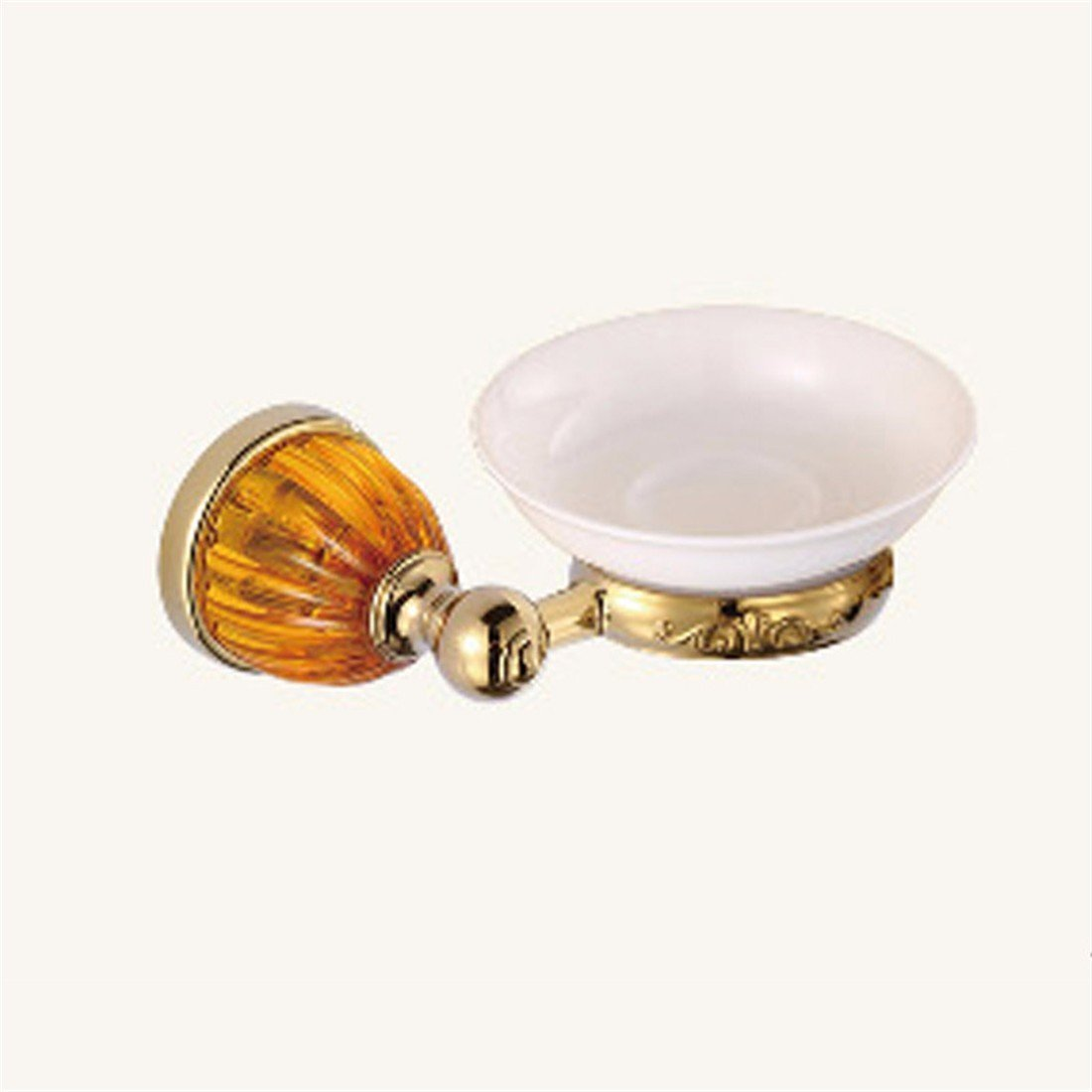 LAONA European style gold zinc alloy amber base bathroom fittings towel ring single and double rod,Soap dish