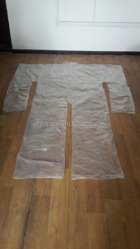 Disposable PE Plastic Sauna Suit For Lose weight