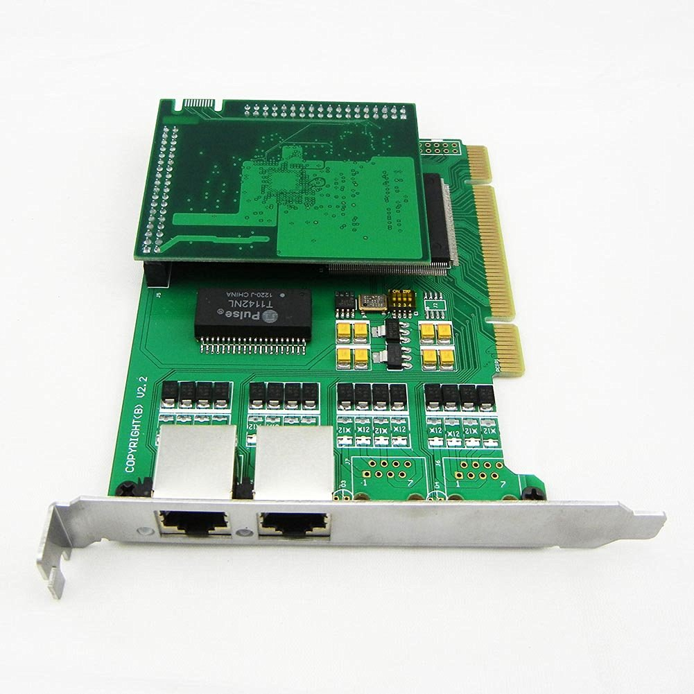 Dual Span Selectable E1 or T1 Pci Card with Octasic Hardware Echo Cancel Module Suitable for Asterisk Based Applications