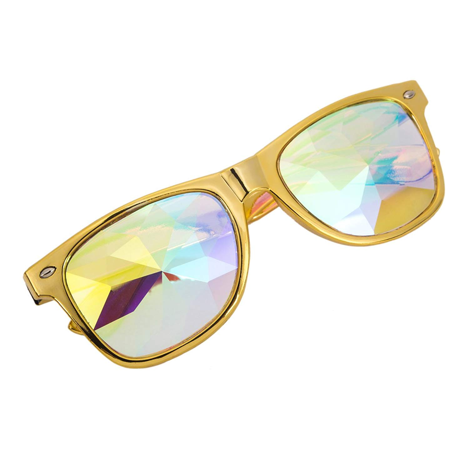 Geometric Prism Rainbow Kaleidoscope Glasses Crystal Prism Diffraction Glasses