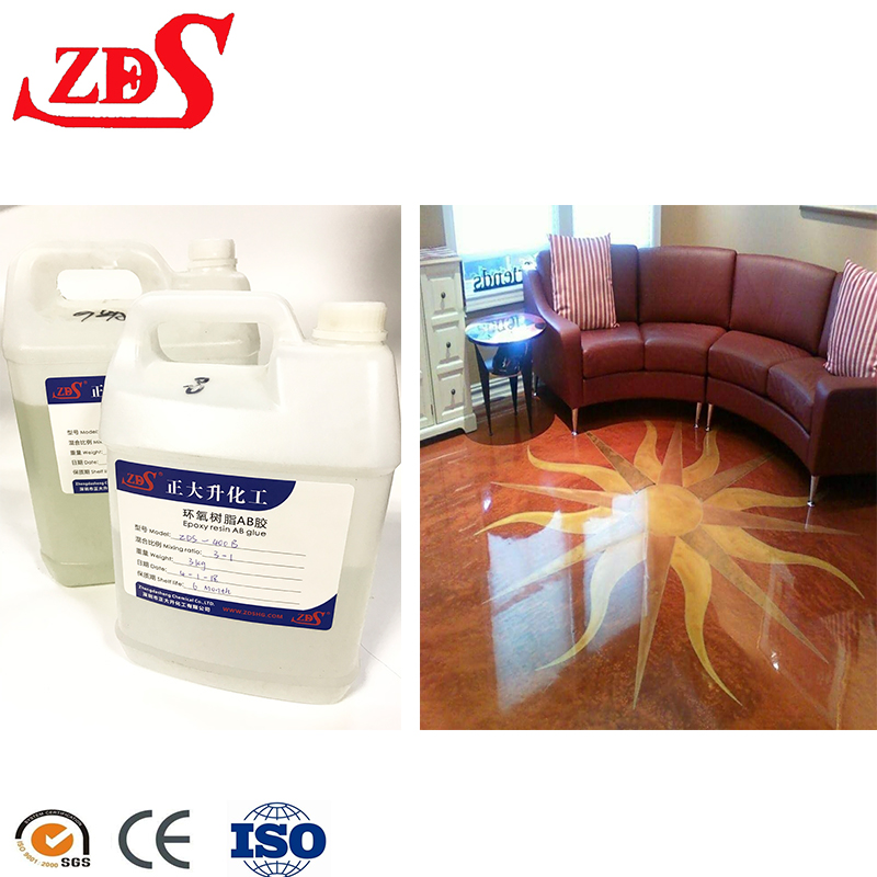 Crystal clear bar epoxy resin coating promarine resin factory / 1:1 ratio / non-toxic and odorless transparent resin