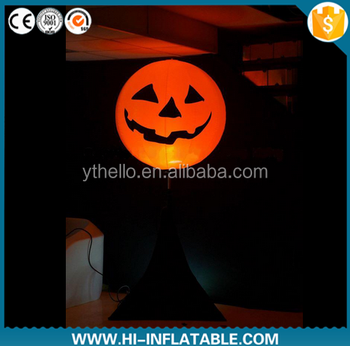 outdoor halloween decoration inflatable pumpkin yard led lighted decoration
