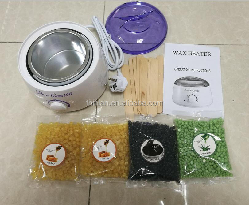 Pro Wax 100 Wax Warmer Portable Electric Hair Removal Kit for Facial &Bikini Area& Armpit Melting Pot Hot Wax Heater 500ml