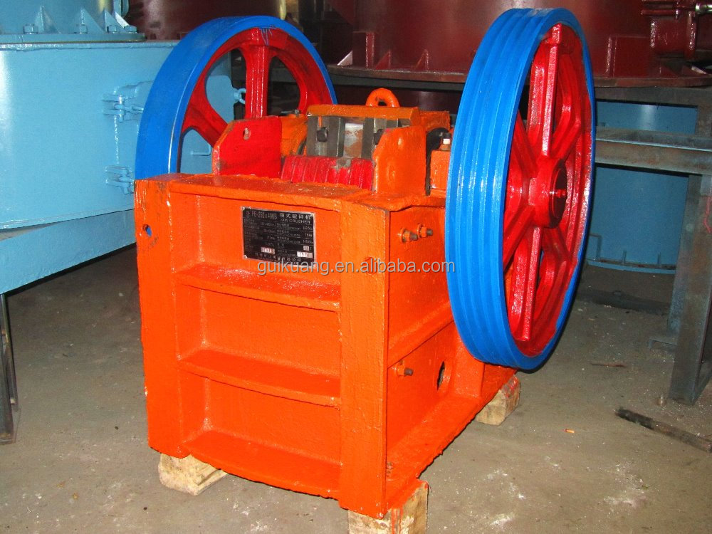 china top quality whole part casting rock PE jaw crusher crushing machine
