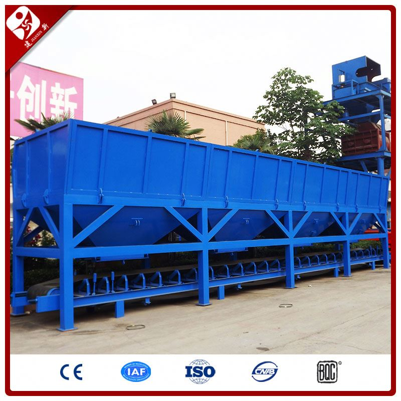 3/4 bins full automatic belt conveyor three or four aggregate bins concrete batching machine 160m3/h