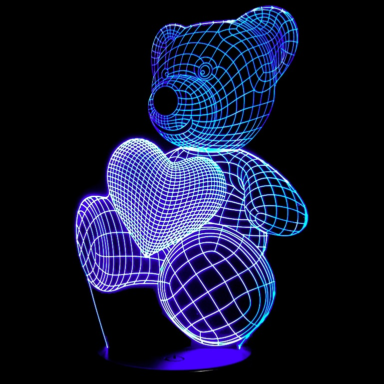 3D illusion led lamps 3d acrylic night light base oem artwork is welcomed send inquiry to get the design catalog