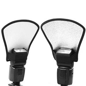 YINGNUOST(TM) Two-Sides Flash Diffuser Softbox Silver/White Reflector for Nikon