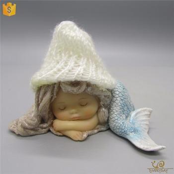 Home Decor Gifts Resin Miniature Mermaid Statues Fairy Garden Cute Figurines