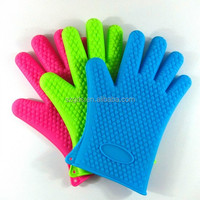 Amazon top rank silicone oven glove/ silicone heat resistant food grade bbq gloves silicone 142g/156g/176g/190g available