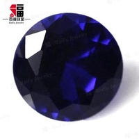 Stocked Round AAA Loose Gemstone, Wuzhou Factory Wholesale Price 113# Sapphire Deep Blue Synthetic Spinel