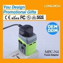 high perfomance colorful mobile charger 5v 1a,step-up power adapter dc power