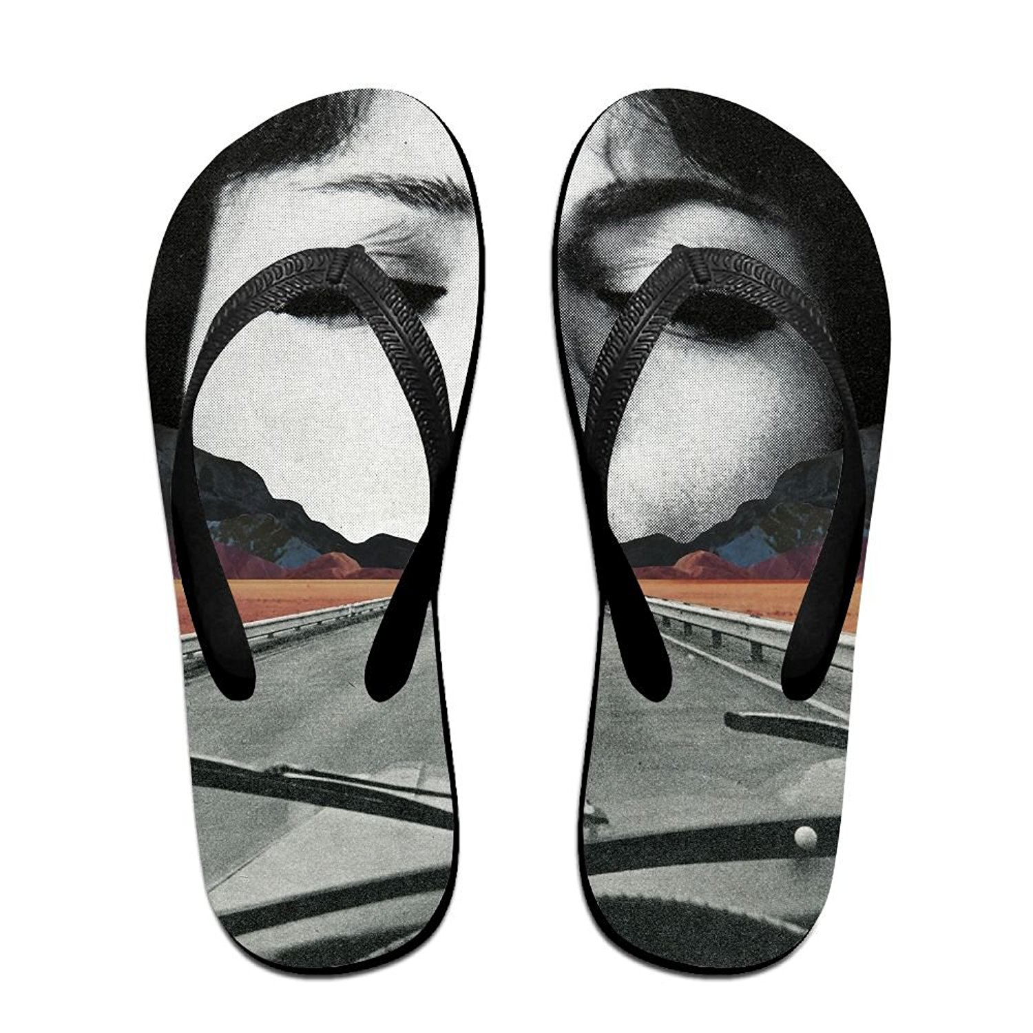 Couple Slipper Cat Use Camera Print Flip Flops Unisex Chic Sandals Rubber Non-Slip Beach Thong Slippers