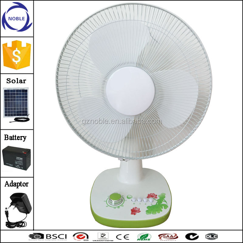 Guangzhou factory 16inch 15W solar 12v dc summer cool table fan power consumption
