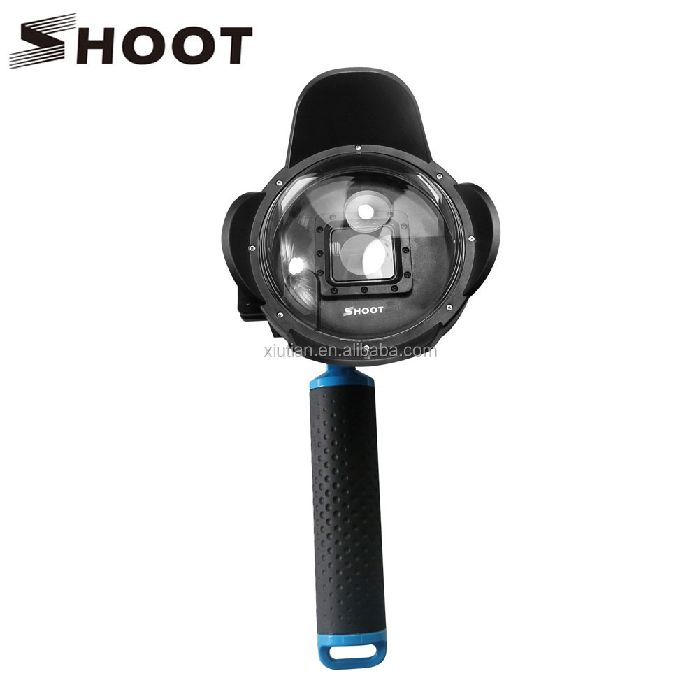 "SHOOT 4"" Sunshade Diving for gopro 3+ 4 Dome Port with Floaty Bobber Go pro Accessories"