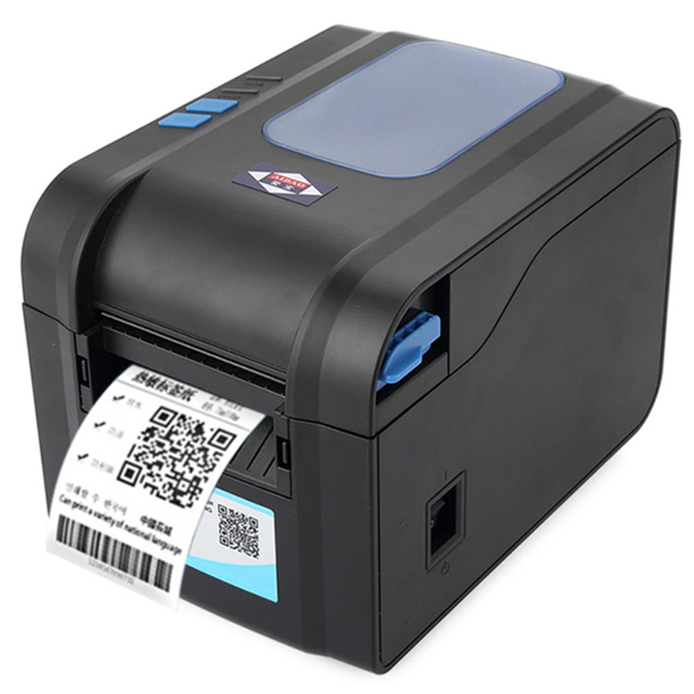 2016 Brand New Aibao BC - 80152T Mini 80mm Label Barcode Thermal <strong>Printer</strong> with Free Paper Roll with EU PLUG