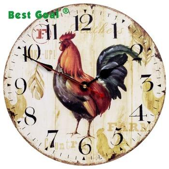 1ac655f3c7e Pintado De Madeira Relógio alarme De Madeira Relógio De Parede - Buy ...