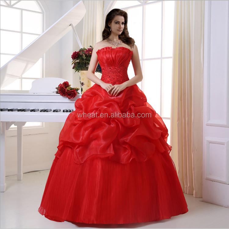 Beautiful Red Color Wedding Dress Buy Beautiful Red Color Wedding Dress Red And White Wedding Dresses Red Wedding Dresses With Sleeves Product On Alibaba Com