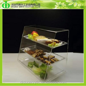 DDC-B025 Trade Assurance Chinese Factory Wholesale Acrylic Showcase for Bread