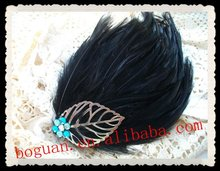2012 fashion Feather Fascinator hair pin
