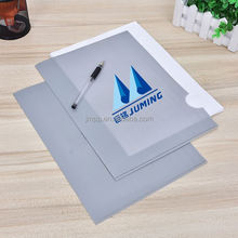 Best prices breathable custom logo L-shaped grey pp plastic zipper bag