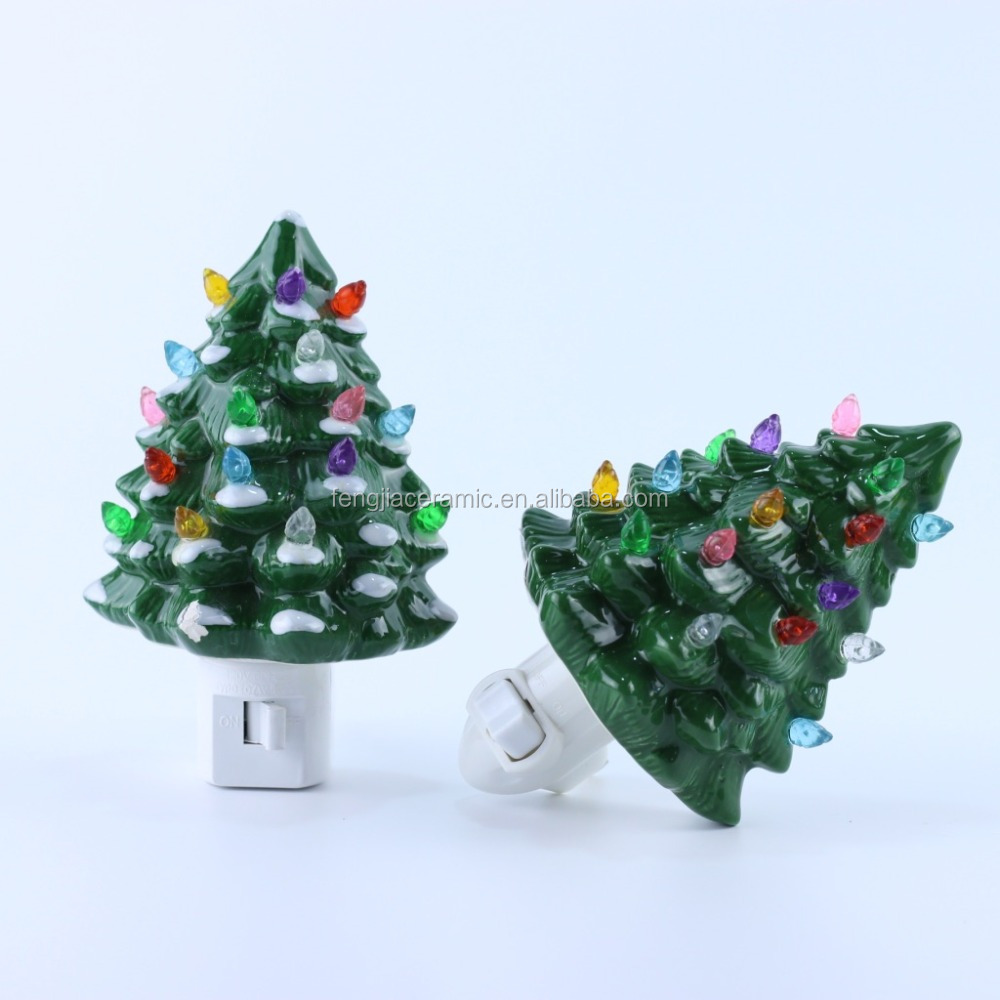 ETL UL electric Christmas tree plug ceramic night light