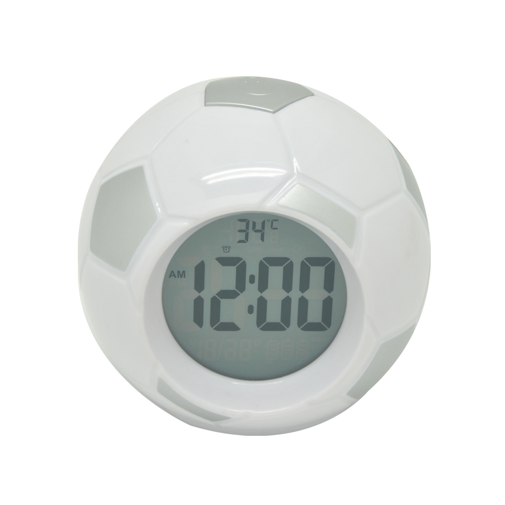 PN-1062TC Popular Silver Soccer Alarm Clock for Students