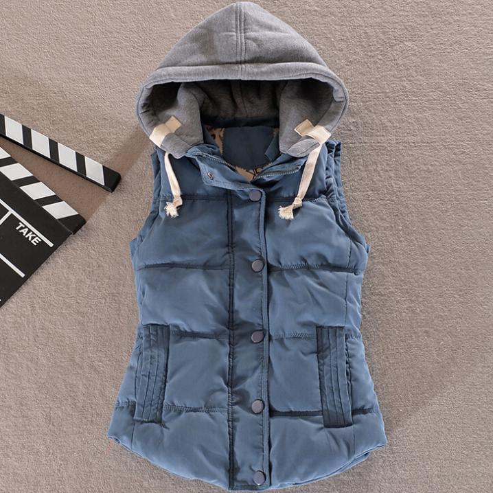 נשים כותנה, צמר צווארון ברדס למטה האפוד משלוח חינם חם באיכות גבוהה מותג חדש נקבה חורף חם ' קט&הלבשה עליונה