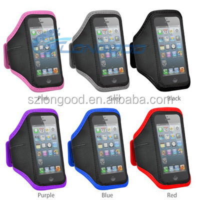 Soft Belt running armband sport case for iphone, Phone Bags & Cases waterproof Pouch Holder arm band