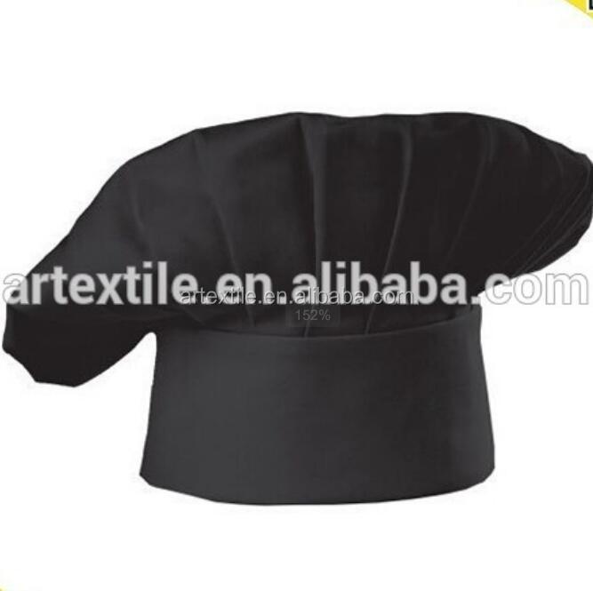 Black chef hat, custom chef hat for restaurant, kitchen hat with custom design