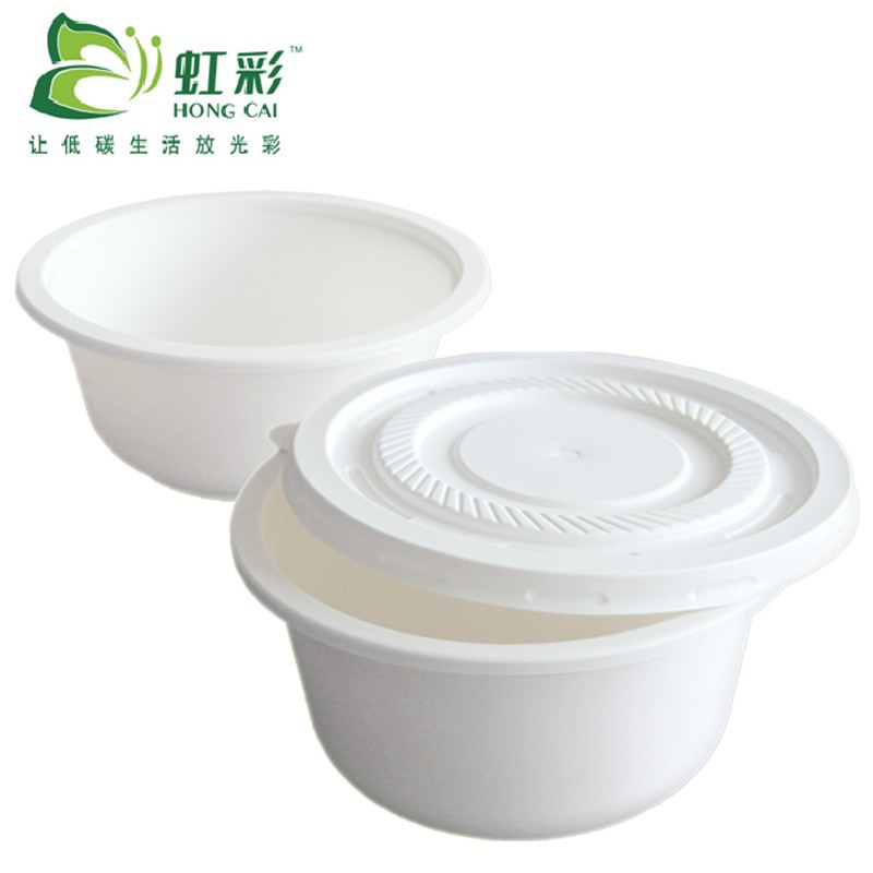 24 oz corn starch disposable bowls and lids