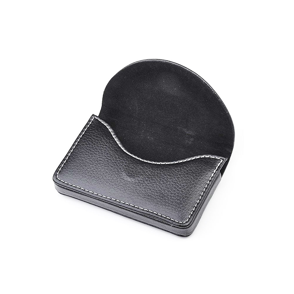 Black 정품 소 leather customized LOGO 돈 clip wallets magnetic closure business name card case 홀더 핫 sales