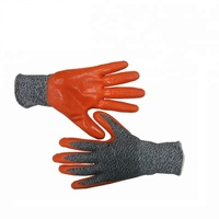 DDSAFETY 13G HPPE and Glassfiber mixed nylon liner coated nitrile cut resistant level 5 work gloves