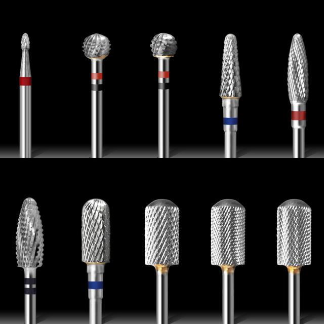 Top selling tungsten steel bit material para manicure e pedicure nail file machine