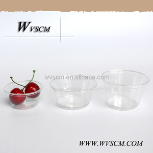 biodegradable promotional disposable pla plastic oz cup with lid