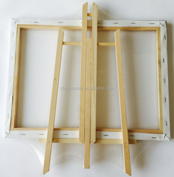 3*3'' high quality 100% cotton canvas with small wooden easel