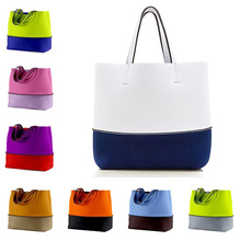 Custom Mode Tragbare Eco Reusable Frauen Handtasche Shopping Tote Neopren Strand Tasche