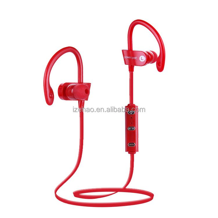 Super stereo sound smart noise reduction V4.1 wireless sport headset detachable ear hook sport wireless earphone - idealBuds Earphone | idealBuds.net