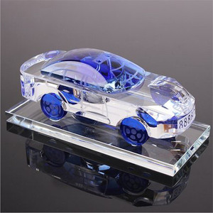 Crystal factory directly sale ornaments various crystal car models