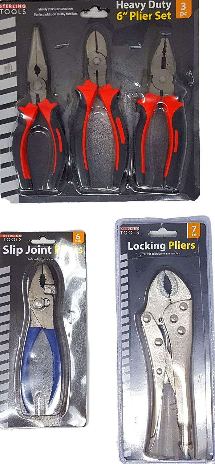 SUPER SPECIAL This Christmas Gift For Dads is a Tools Heavy Duty Pliers 3 Item Combo That Includes a 3 Piece Heavy Duty Pliers Set a Slip Joint Pliers Tool and a Vice Grip Locking Metal Pliers Tool