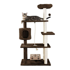 Customized Design Plush Wooden Pet Condo Tower Supplier Furniture Factory Toys Cat Scratcher Tree House Tower