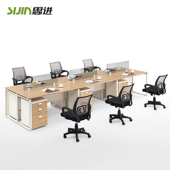 Modular Office Furniture Workstation For 6 Person And Cubicle