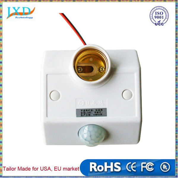 Smart Home Sensor R138 induction Socket PIR Auto Human Motion Sensor Infrared Detector Lamp Base Switch Lamp Holder E27