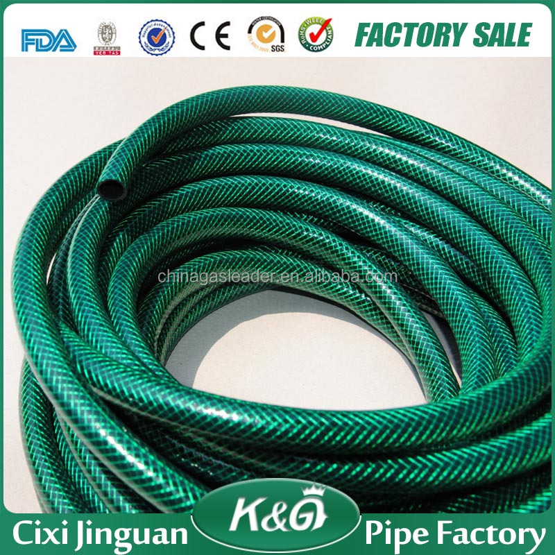 Soft flexible PVC water hose, low pressure braided hose pipe, pvc fiber reinforced hose