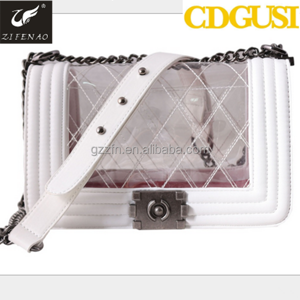 Popular fashion young lady's jelly handbags