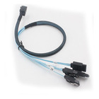 CBL-SAST-0591 SAS3 cross-over Cable SFF-8643 mini SAS HD to 4 x SATA