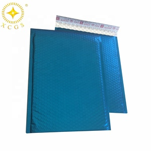 Colorful Air Cushioned Envelope Blue Wholesale Metallic Bubble Mailer