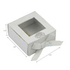 white paper window sweet box foldable type