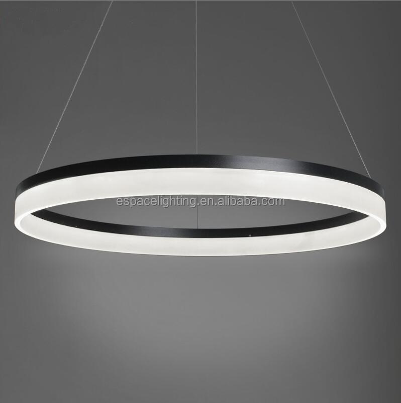 Modern Design Round 3 Ring Led Chandelier Circle Pendant Light On